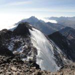 Glacier de montée, au loin, les Yungas (enfin, sous les nuages)