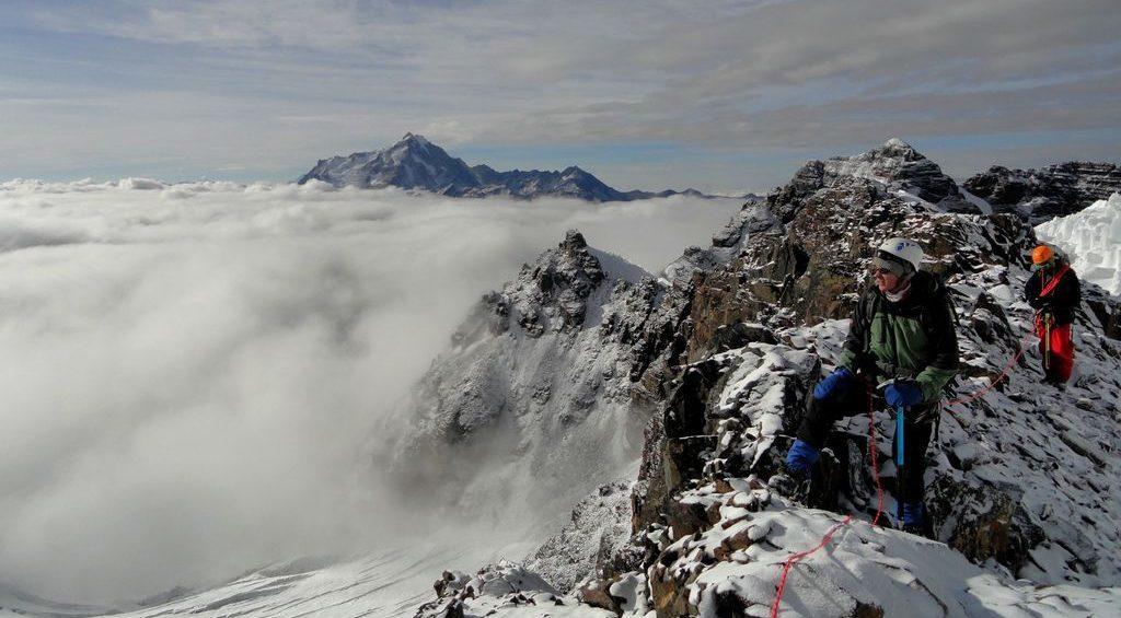 Pico Tarija - Au loin, le Huayna Potosi
