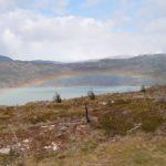 Arc à ciel sur le lago Grey